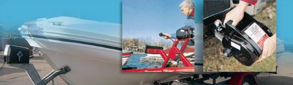 Mon treuil électrique tire mon bateau sans effort
