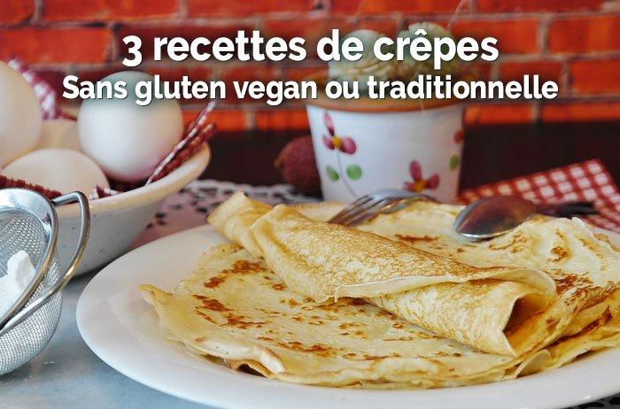 3 recettes de crêpes sans gluten vegan